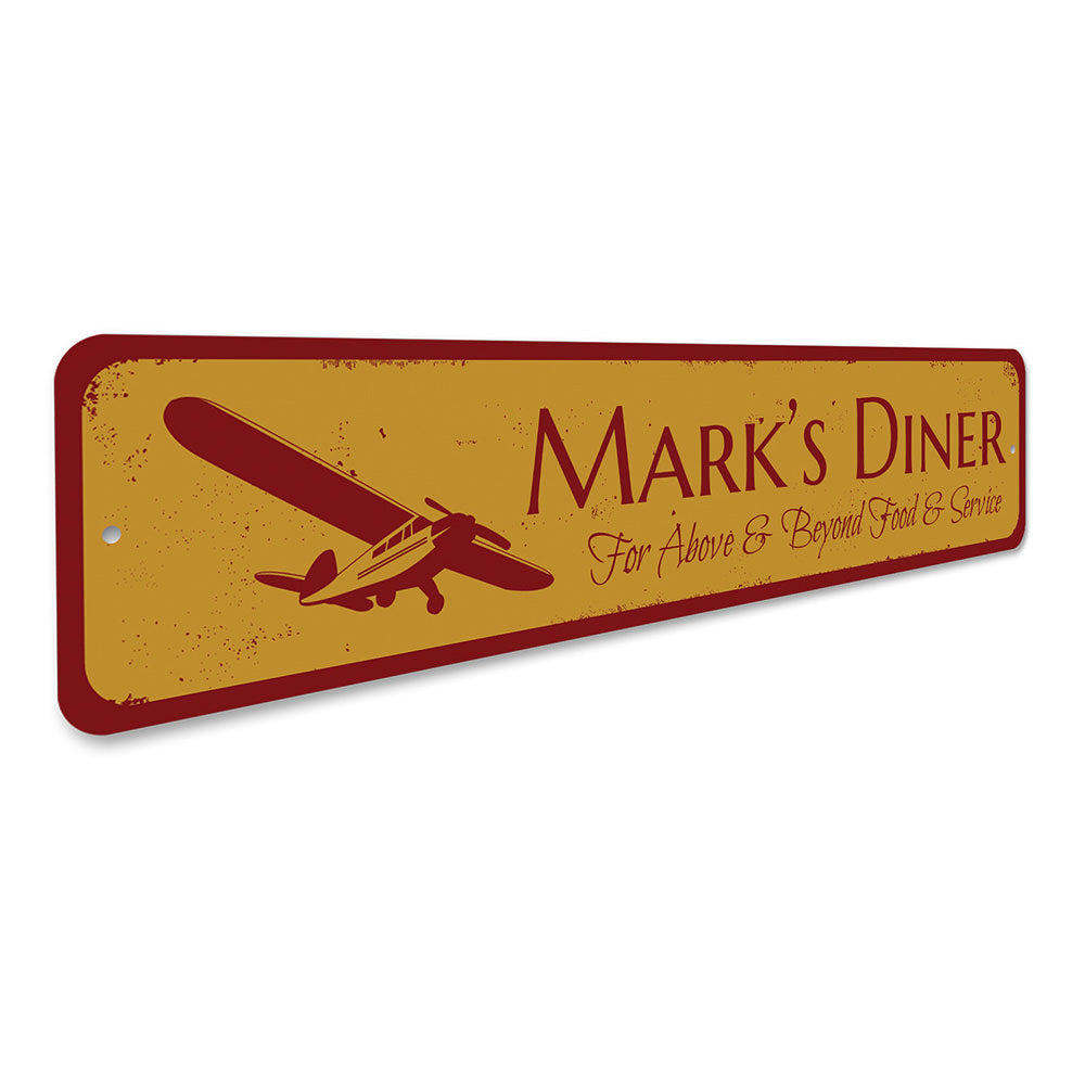 Airplane Diner Sign Aluminum Sign