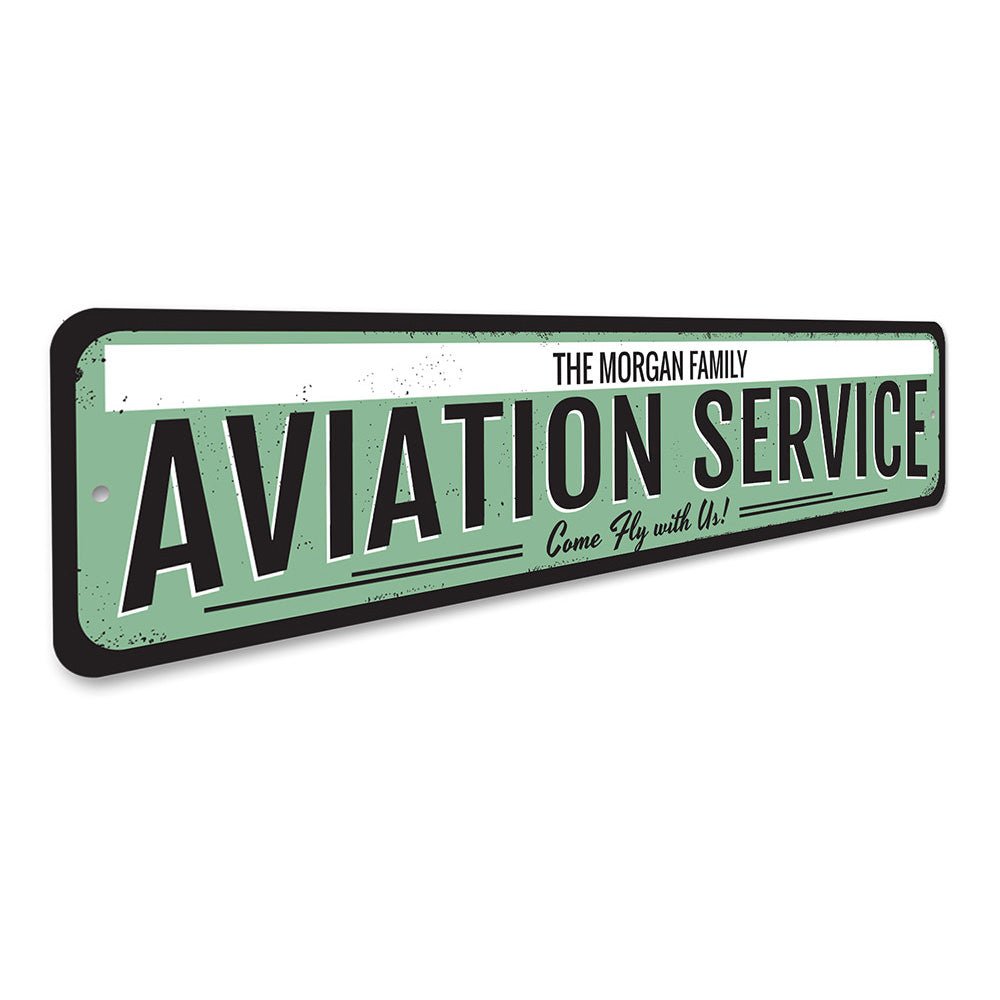 Aviation Service Sign Aluminum Sign