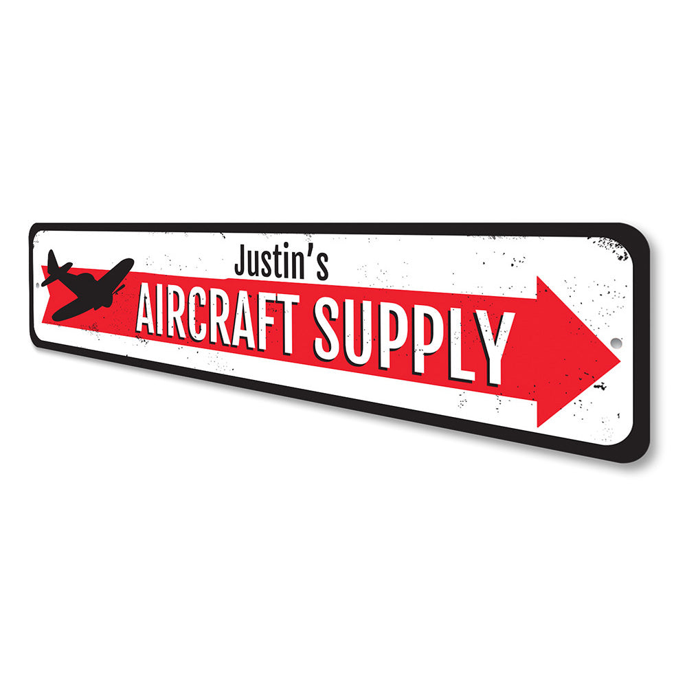 Aircraft Supply Sign Aluminum Sign