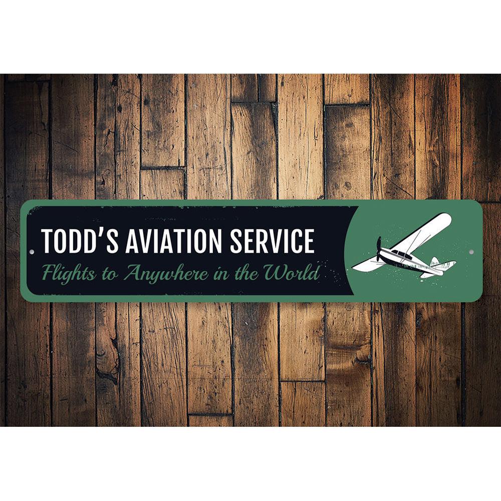 Airplane Service Sign Aluminum Sign