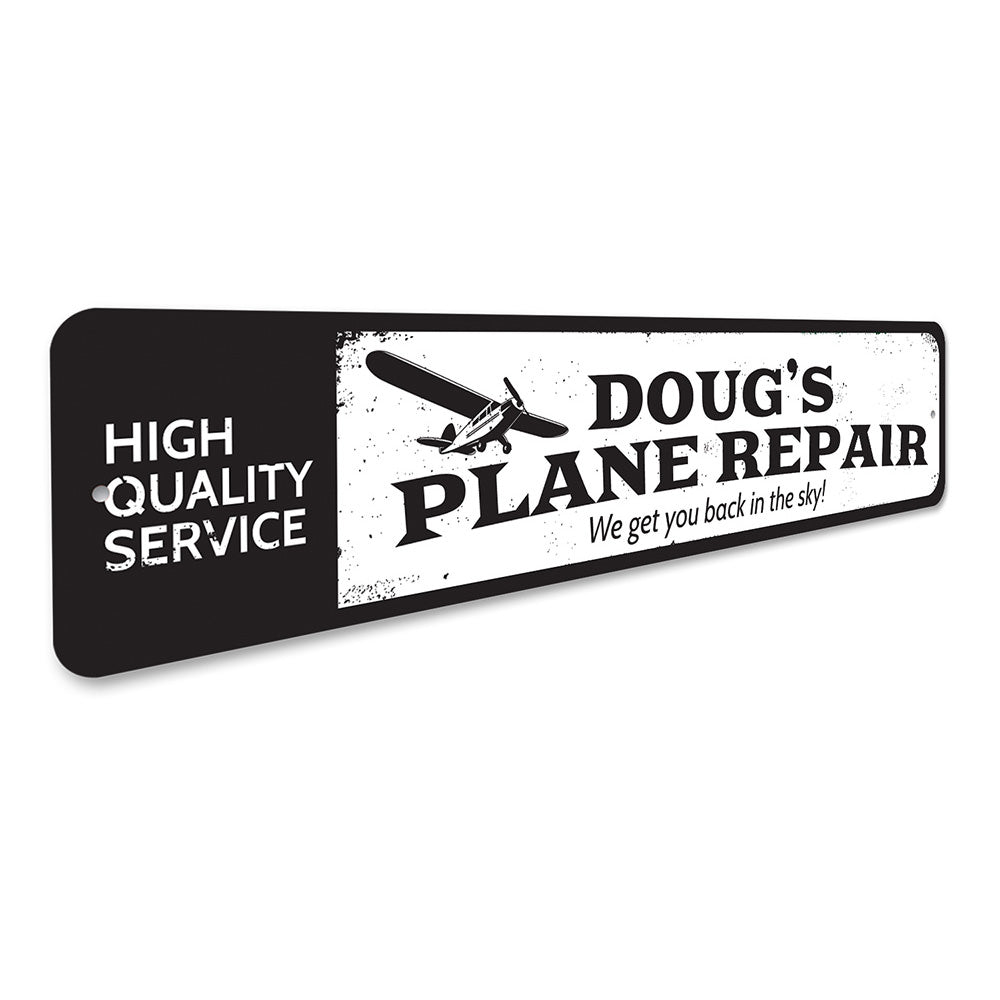 Plane Repair Sign Aluminum Sign