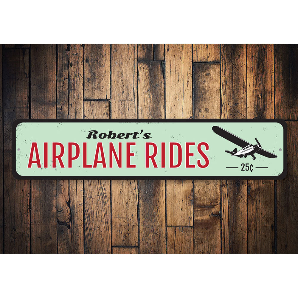 Airplane Rides Sign Aluminum Sign