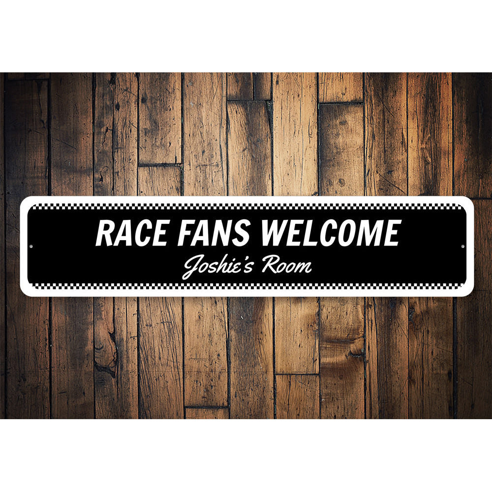 Welcome Race Fans Sign Aluminum Sign