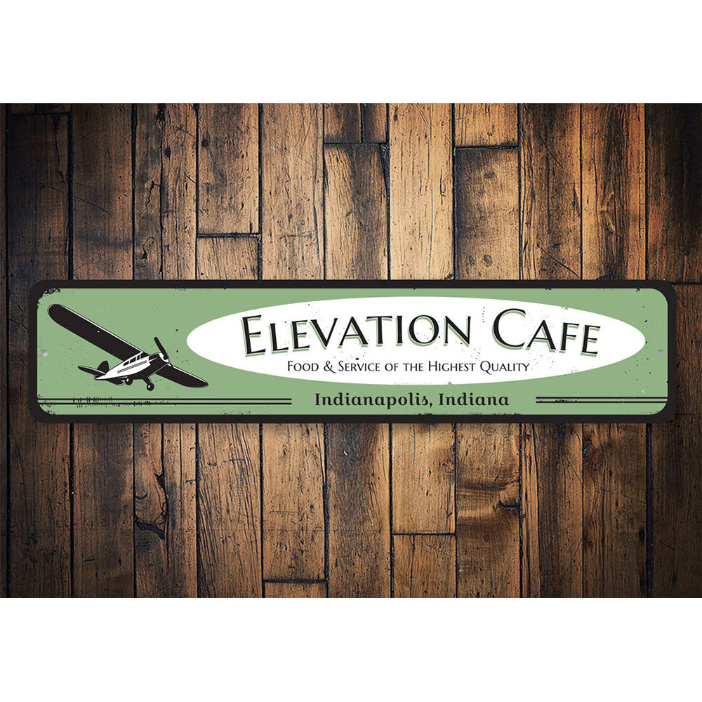 Airplane Cafe Sign Aluminum Sign