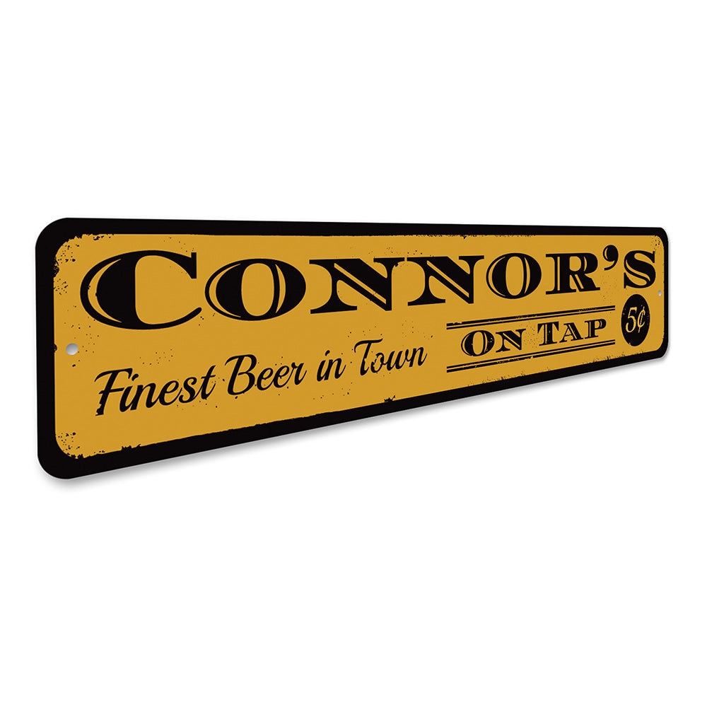 Beer On Tap Sign Aluminum Sign