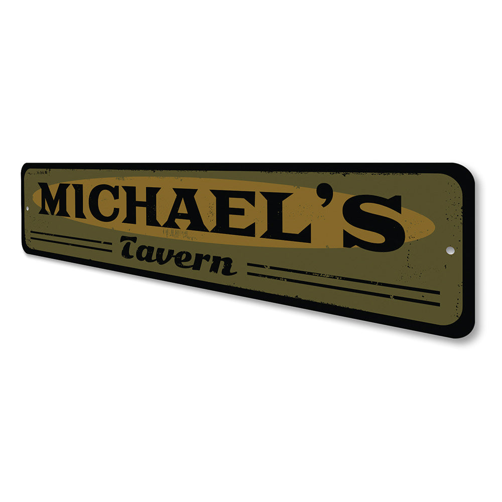 Tavern Name Sign Aluminum Sign