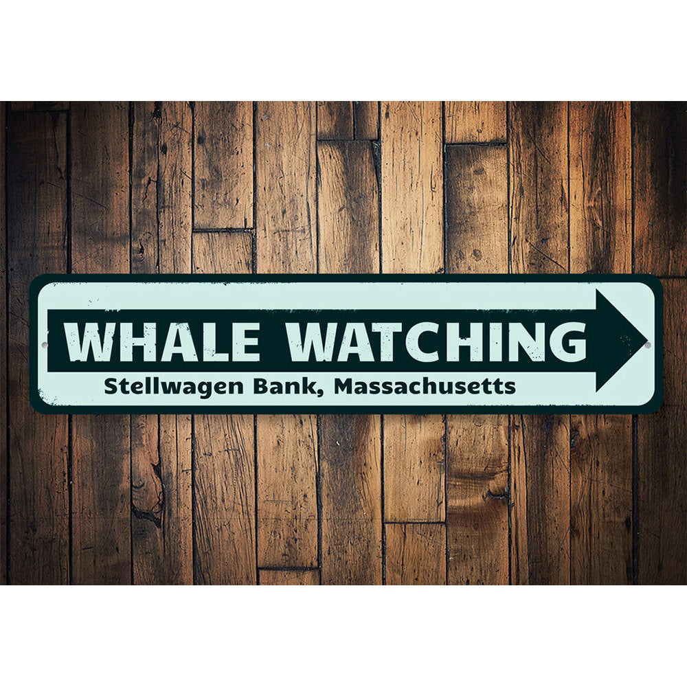 Whale Watching Location Sign Aluminum Sign