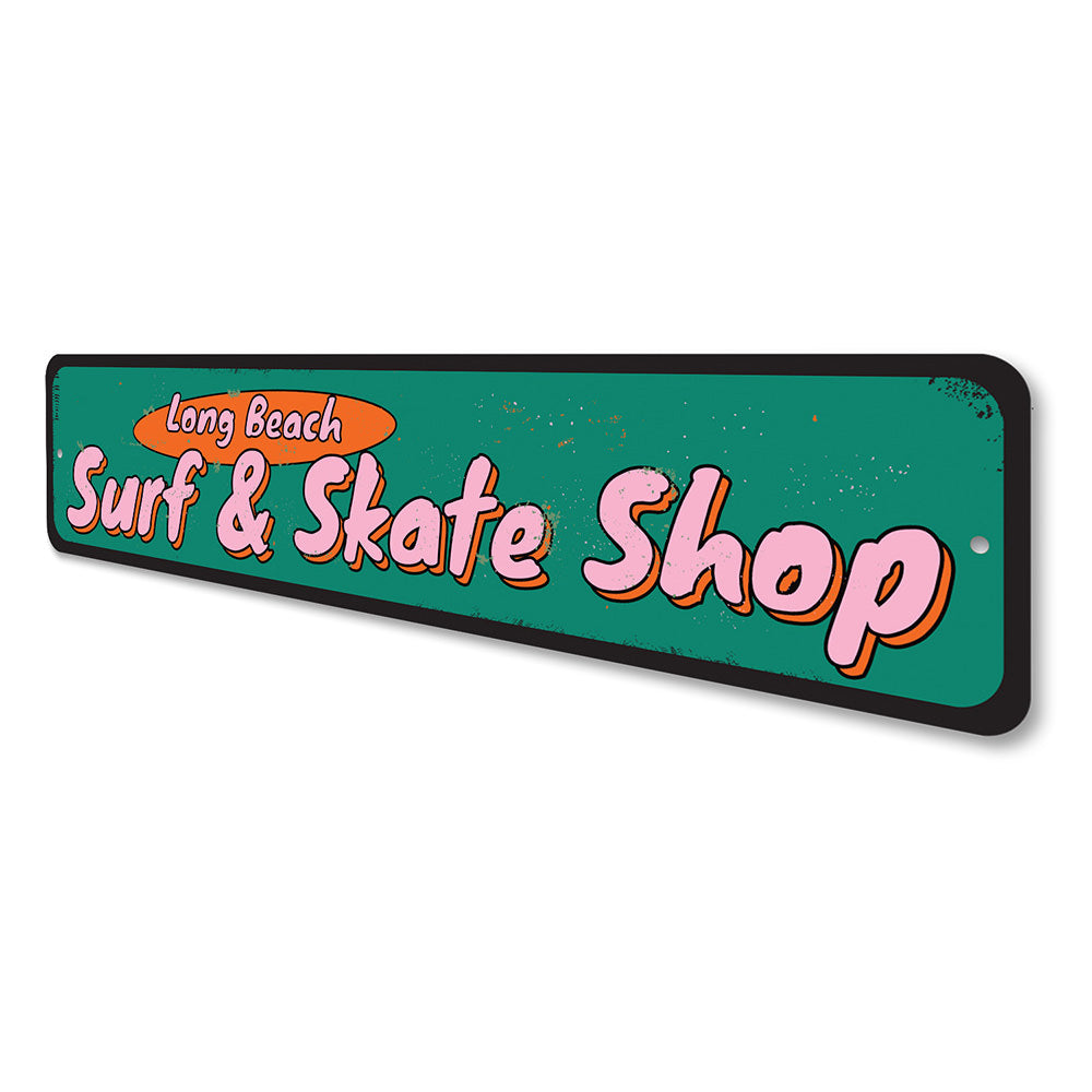 Surf and Skate Shop Sign Aluminum Sign