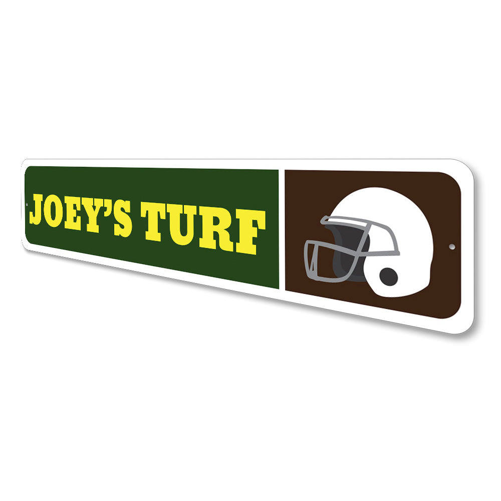 Football Helmet Sign Aluminum Sign