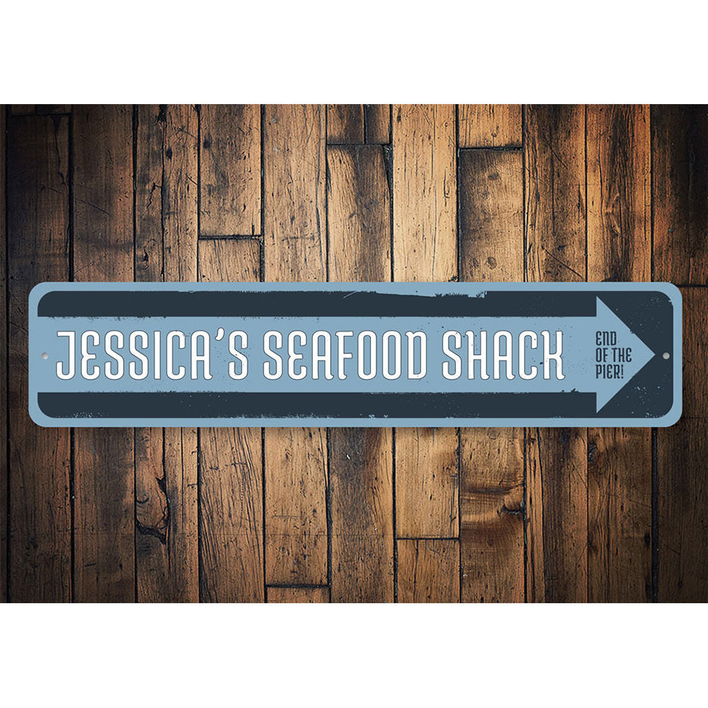 Seafood Shack Sign Aluminum Sign