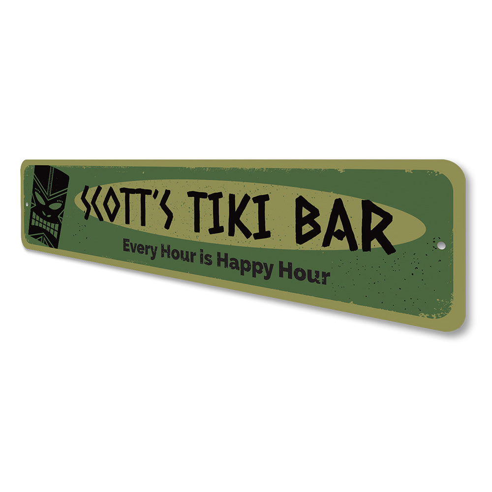 Every Hour is Happy Hour Tiki Sign Aluminum Sign