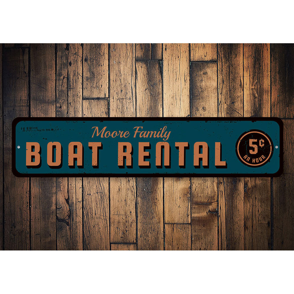 5 cent Boat Rental Sign Aluminum Sign