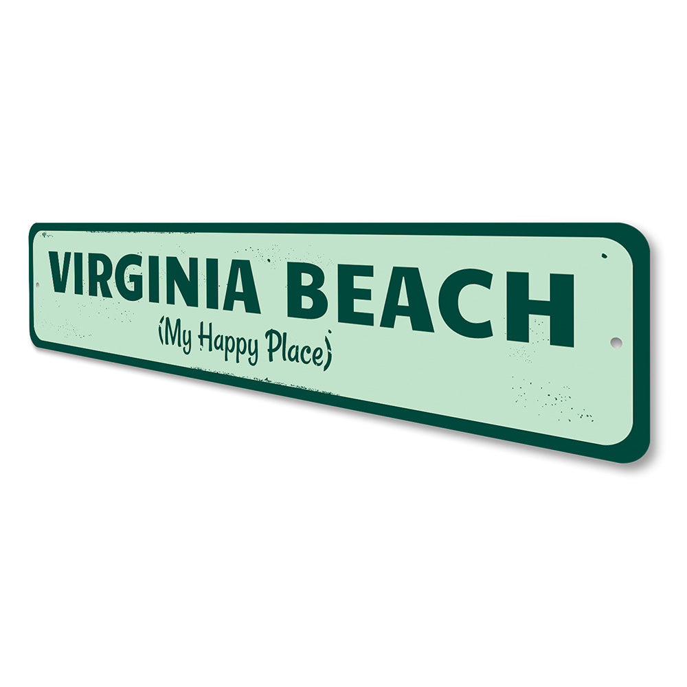 My Happy Place Sign Aluminum Sign