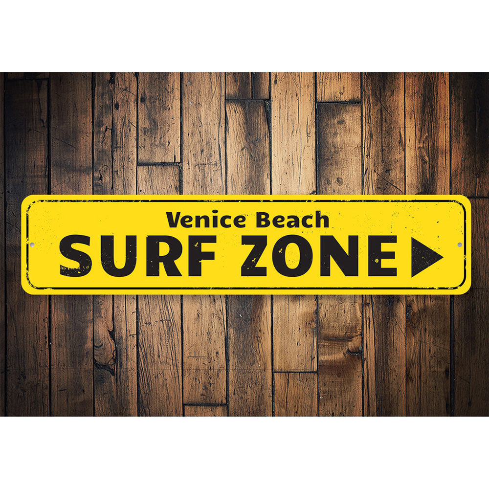 Surf Zone Sign Aluminum Sign