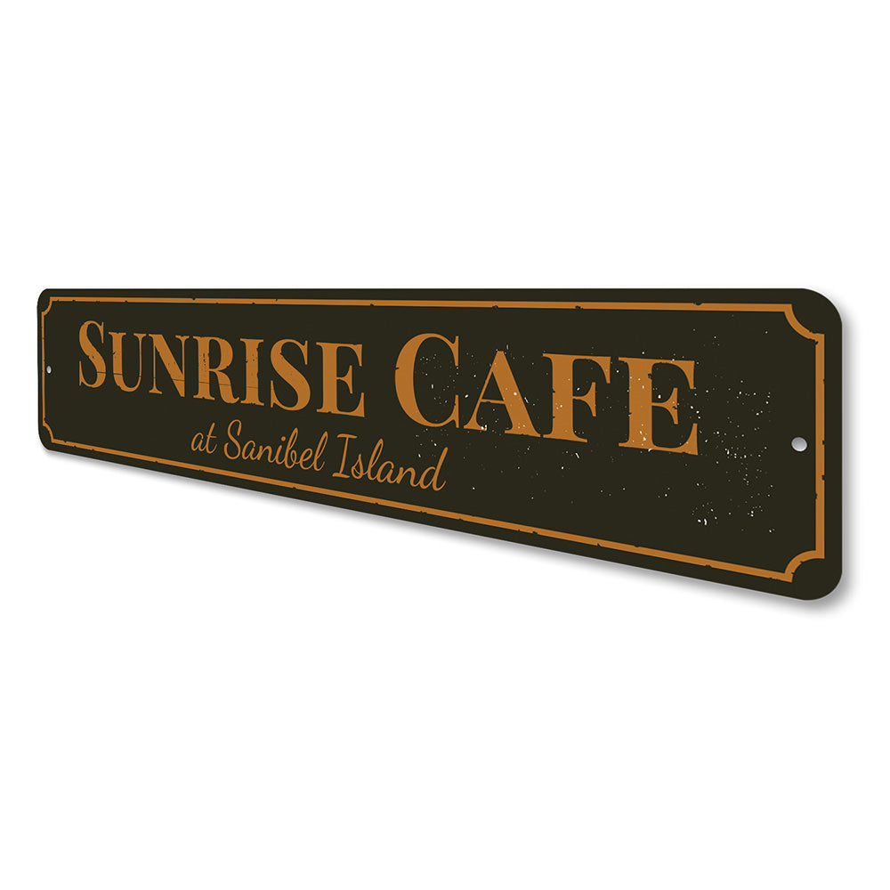 Sunrise Cafe Sign Aluminum Sign