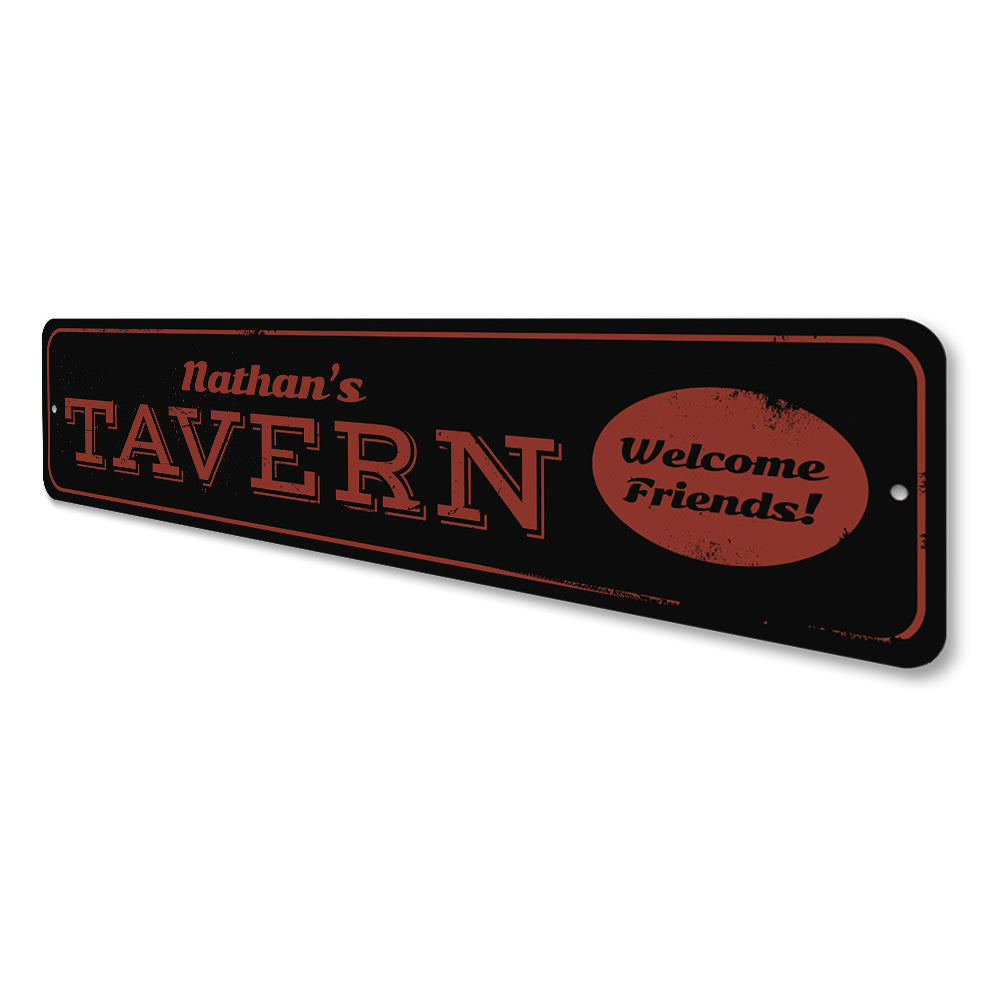 Welcome Tavern Sign Aluminum Sign
