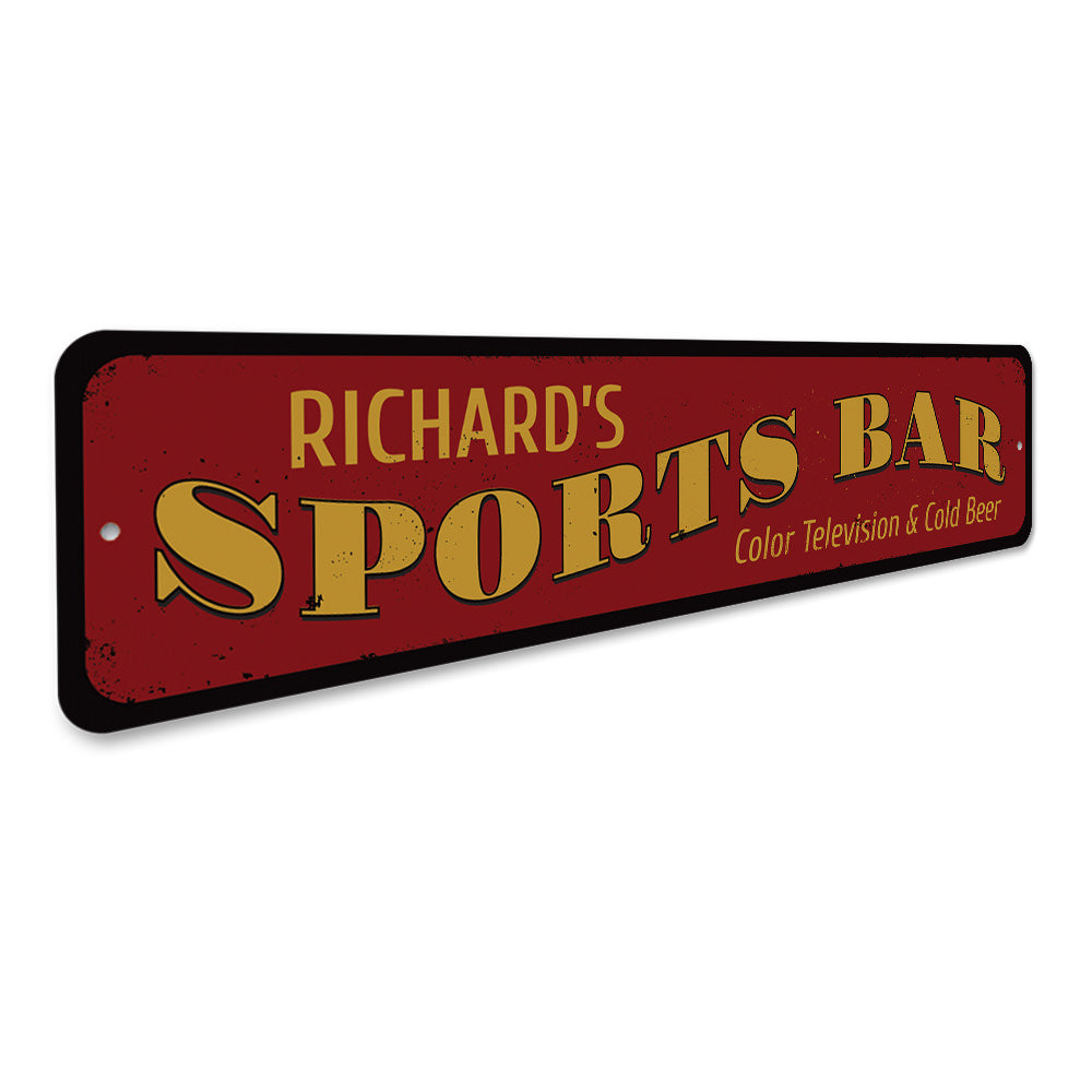 Sports Bar Name Sign Aluminum Sign