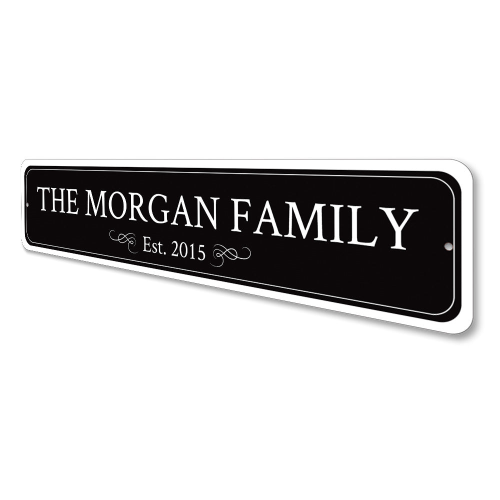 Family Name Sign Aluminum Sign