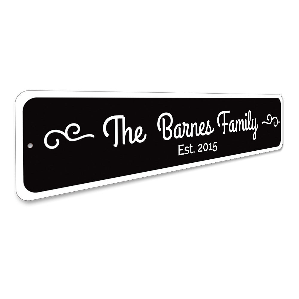 Family Sign Aluminum Sign