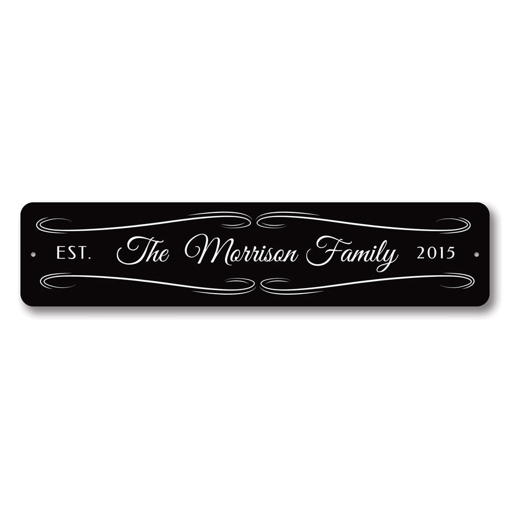 Last Name Wedding Sign Aluminum Sign