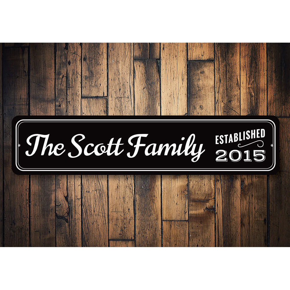 Last Name Family Sign Aluminum Sign