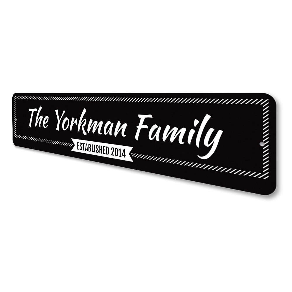 Newlywed Last Name Sign Aluminum Sign