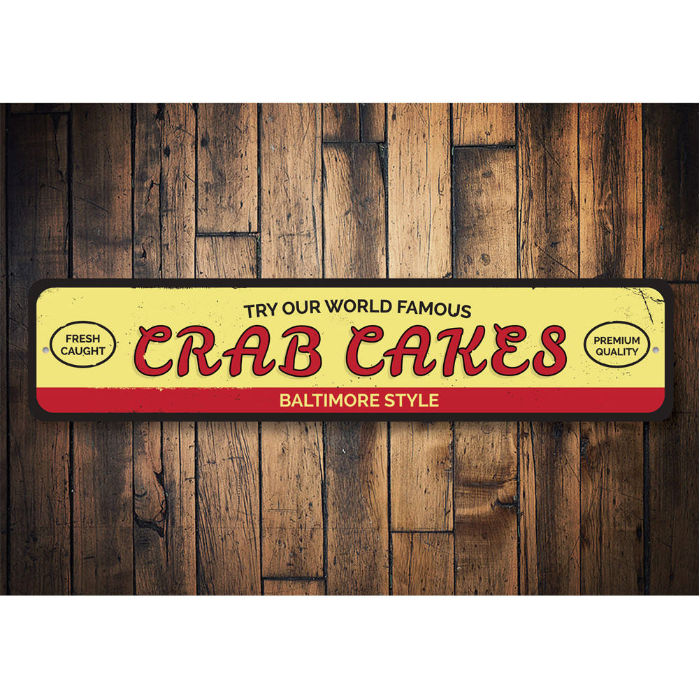 World Famous Crad Cakes Sign Aluminum Sign