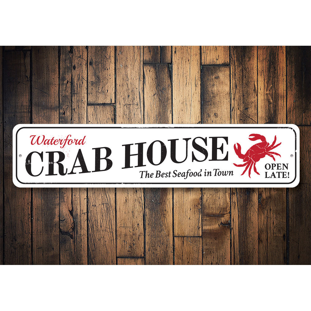 Fresh Crab House Sign Aluminum Sign