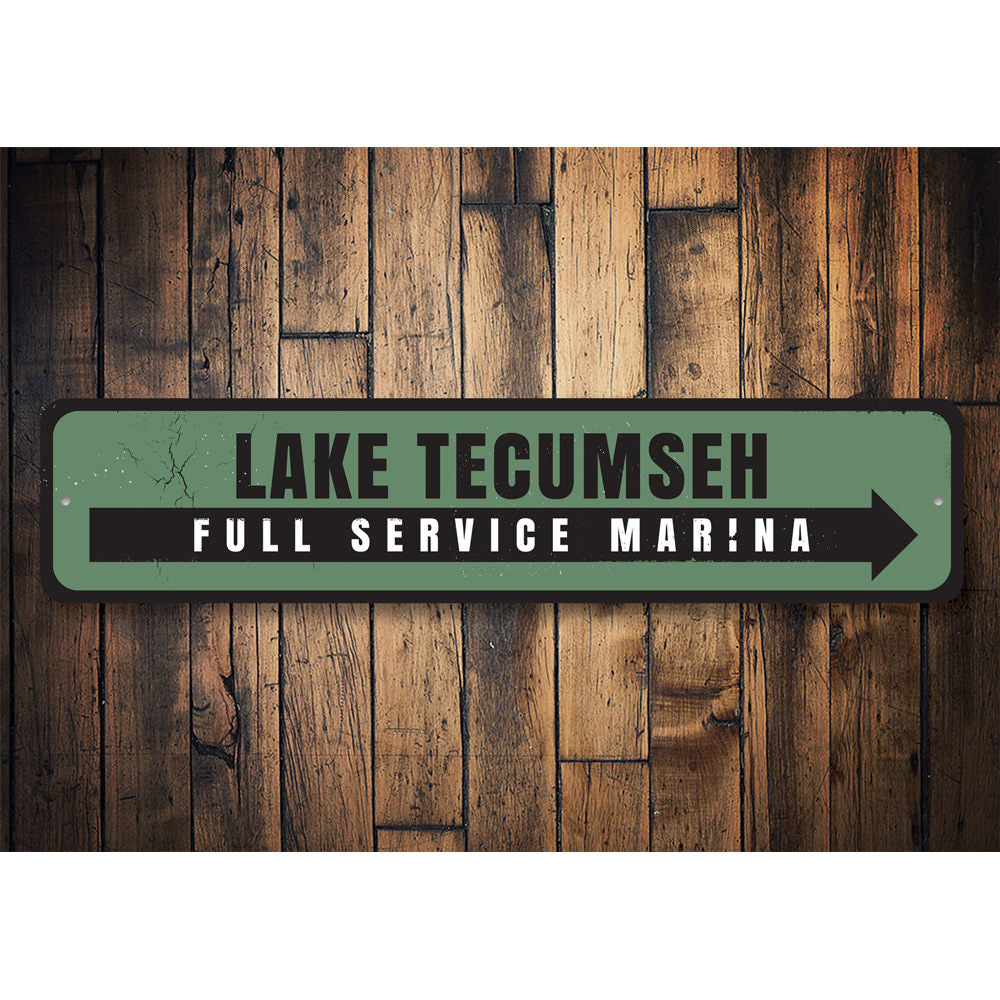 Full Service Marina Sign Aluminum Sign
