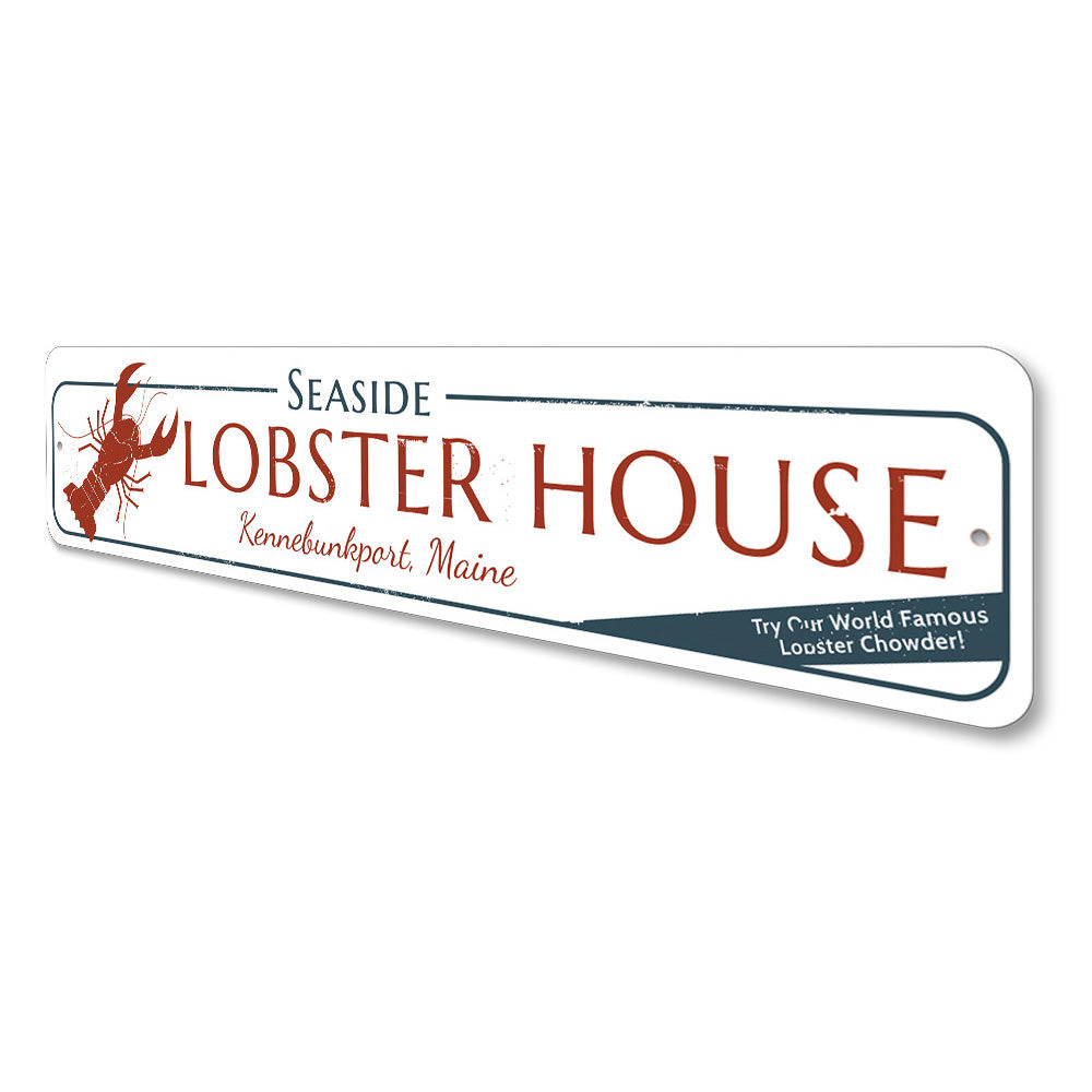 Seaside Lobster House Sign Aluminum Sign