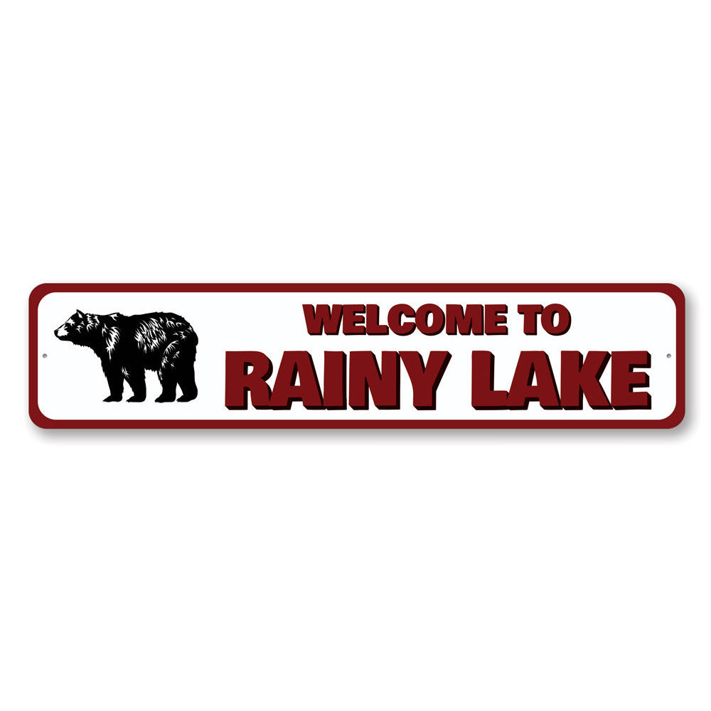 Welcome to Lake Name Sign Aluminum Sign