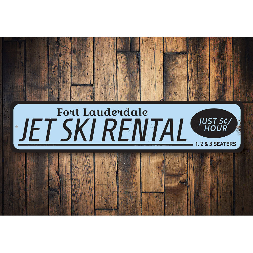 Jet Ski Rental Location Sign Aluminum Sign