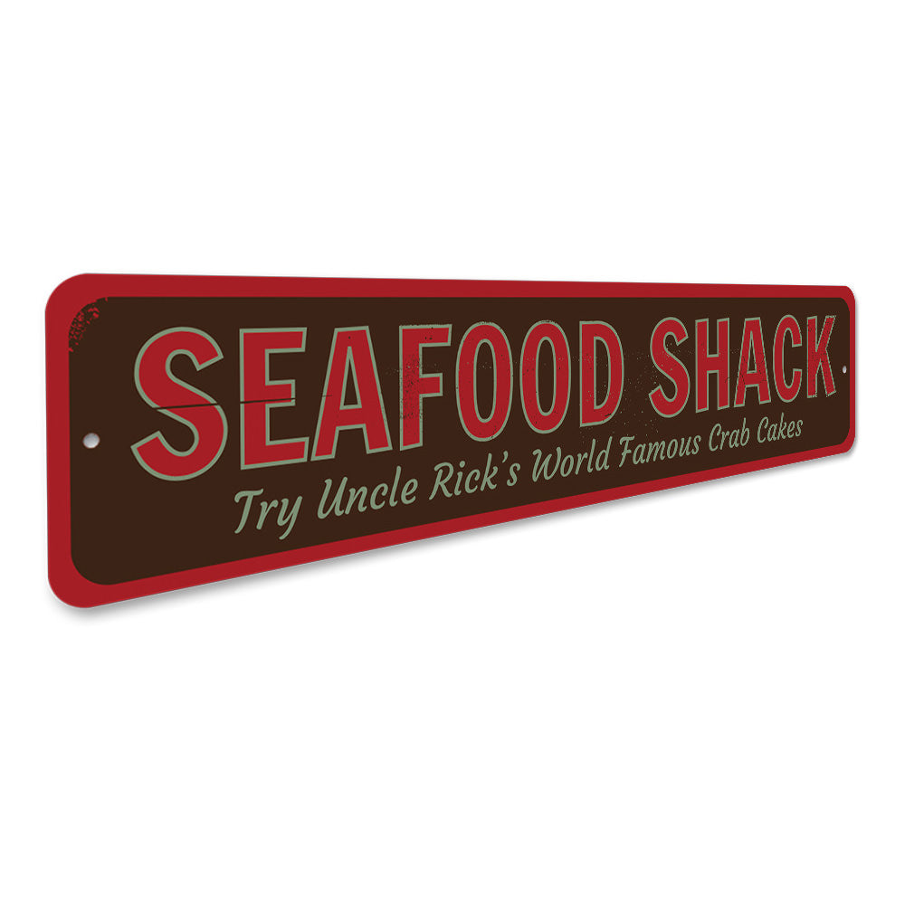 World Famous Seafood Shack Aluminum Sign