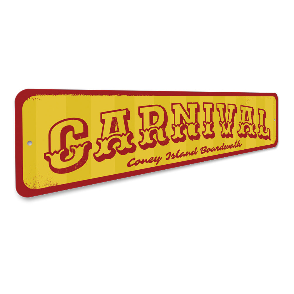 Carnival Sign Aluminum Sign
