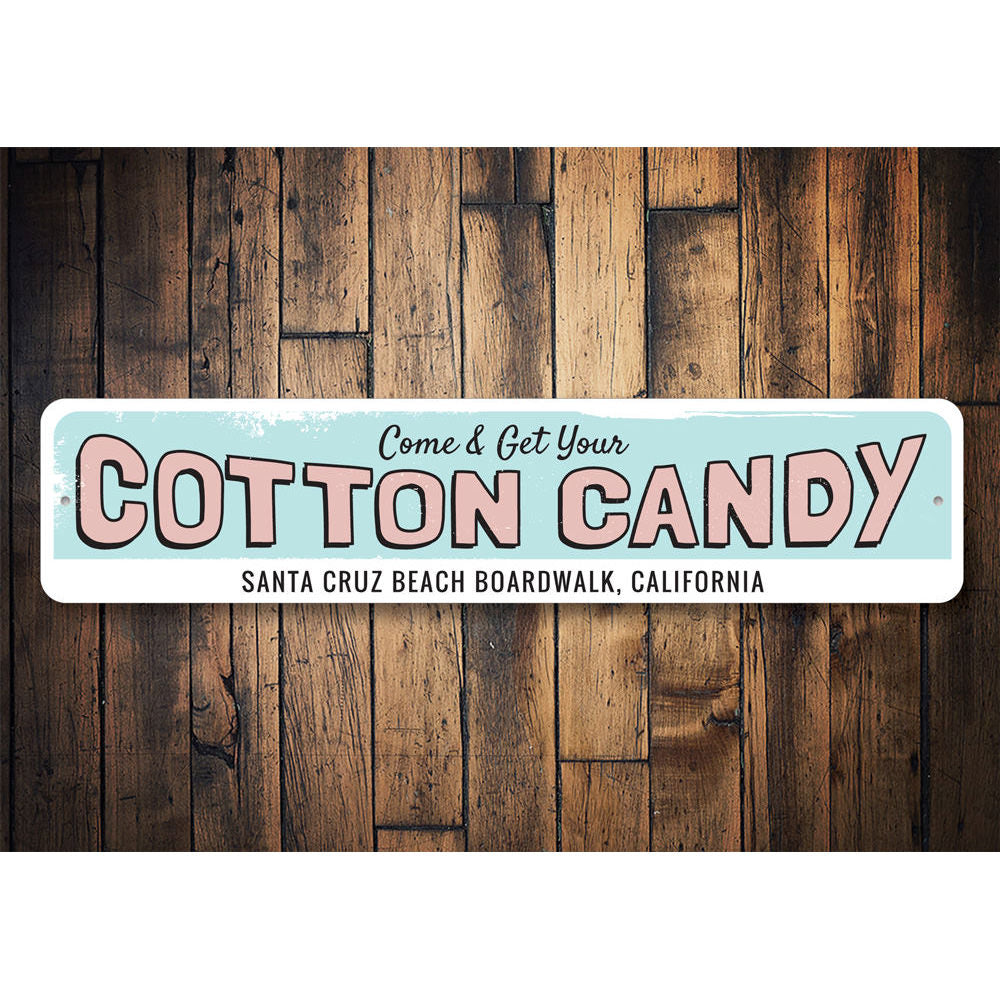 Cotton Candy Sign Aluminum Sign