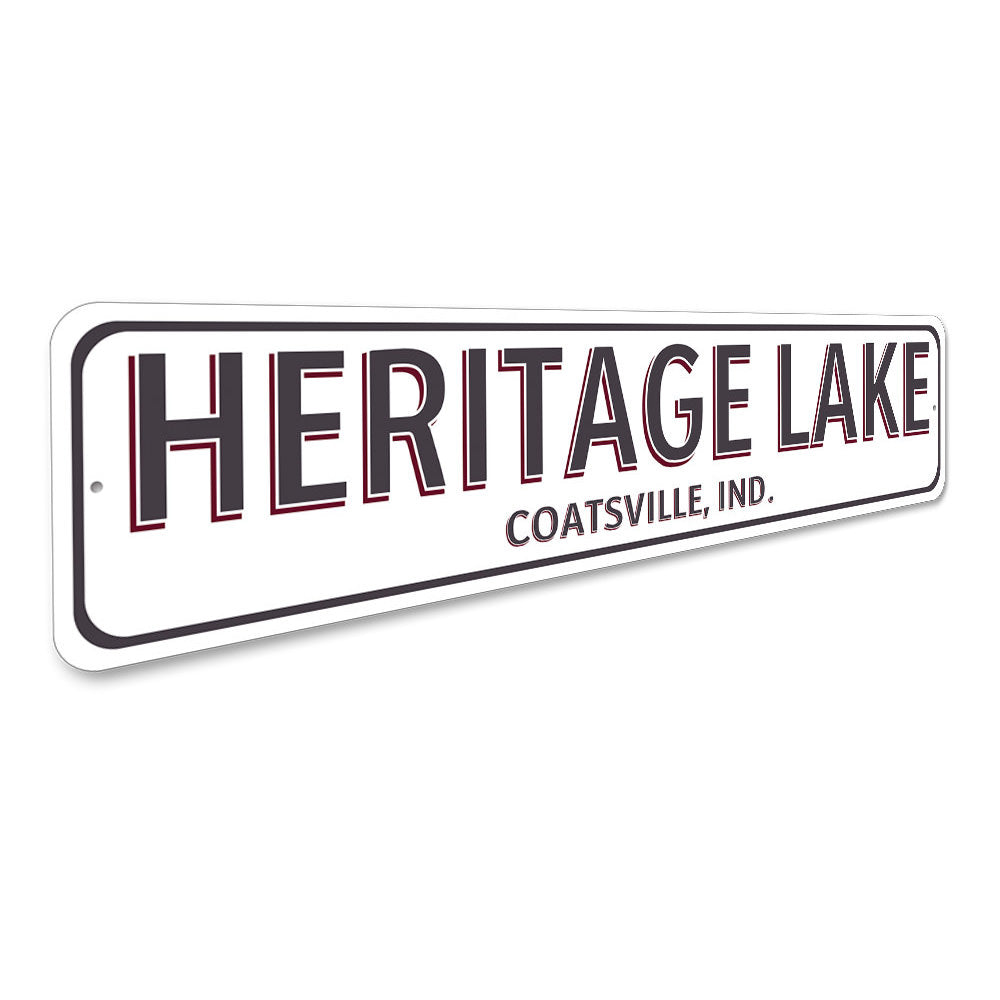 Lake House City State Sign Aluminum Sign