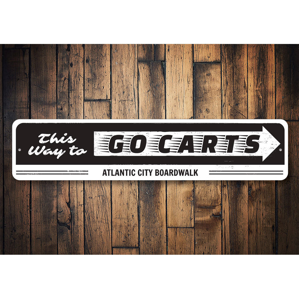 Go Cart Sign Aluminum Sign