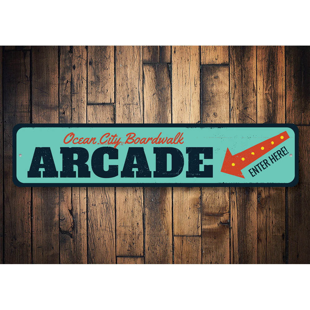 Boardwalk Arcade Sign Aluminum Sign