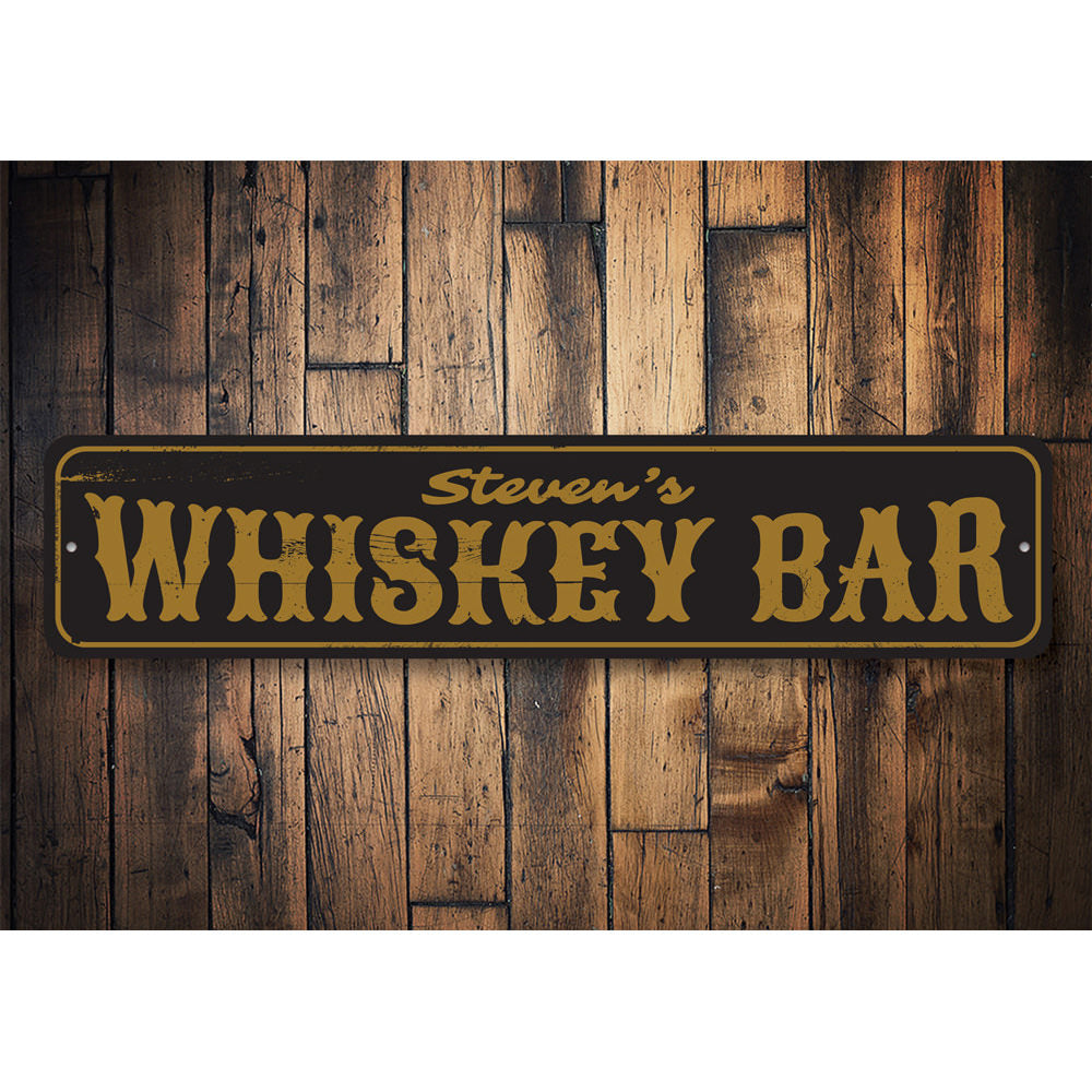 Whiskey Bar Sign Aluminum Sign