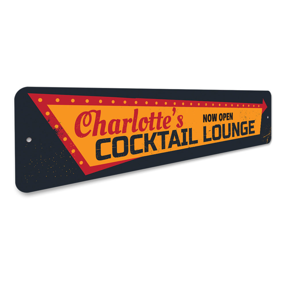 Cocktail Lounge Open Sign Aluminum Sign