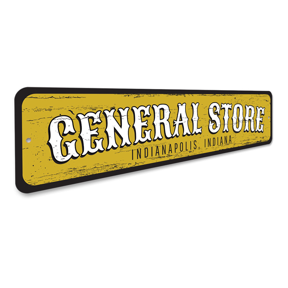 General Store Location Sign Aluminum Sign