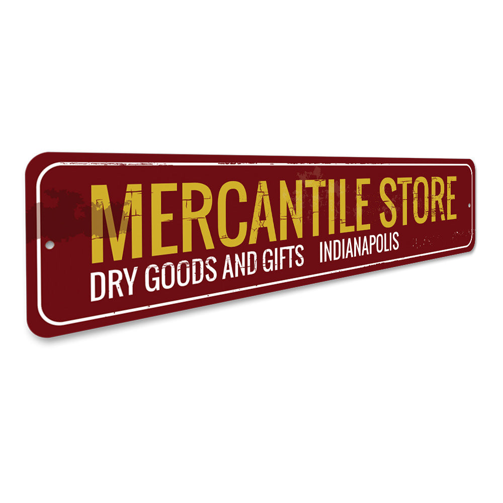 Mercantile Store Sign Aluminum Sign