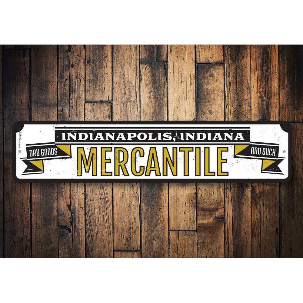 Mercantile Dry Goods Sign Aluminum Sign