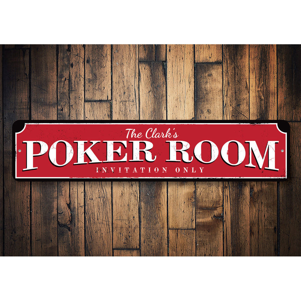 Poker Room Sign Aluminum Sign
