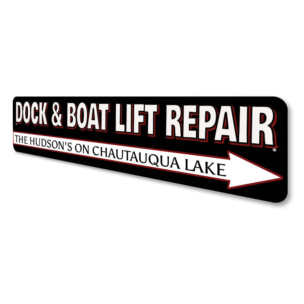 Boat Lift Repair Sign Aluminum Sign
