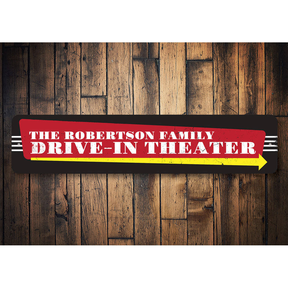 Drive-In Theater Sign Aluminum Sign