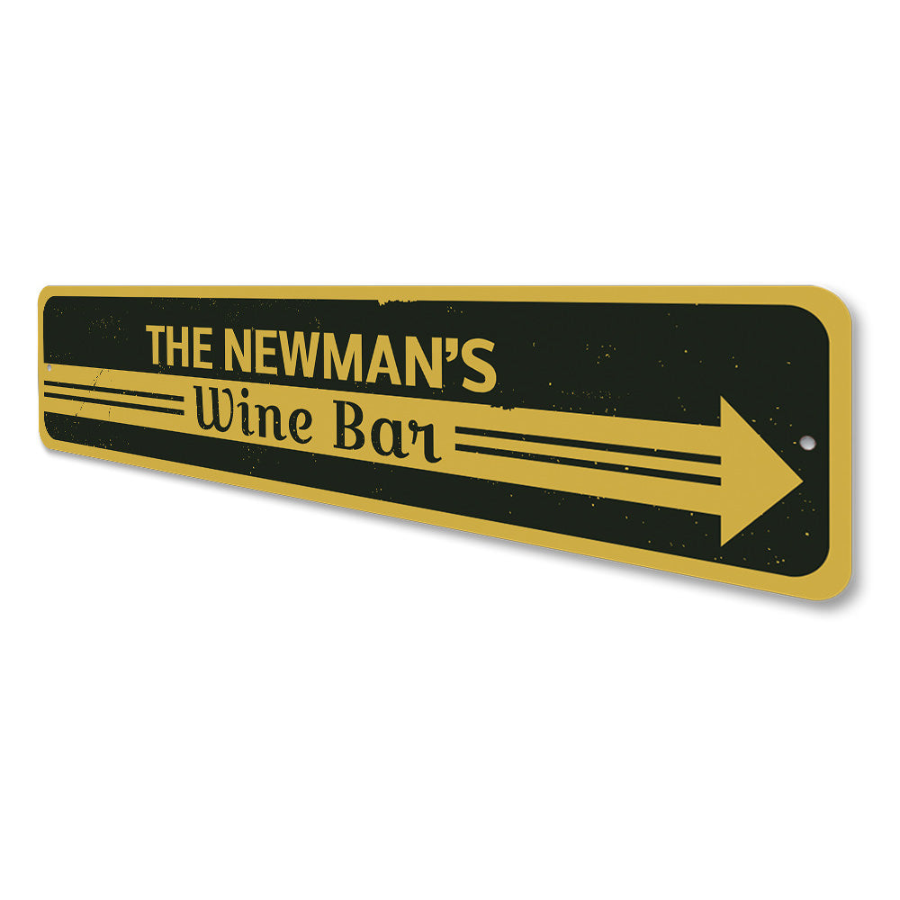 Wine Bar Arrow Sign Aluminum Sign