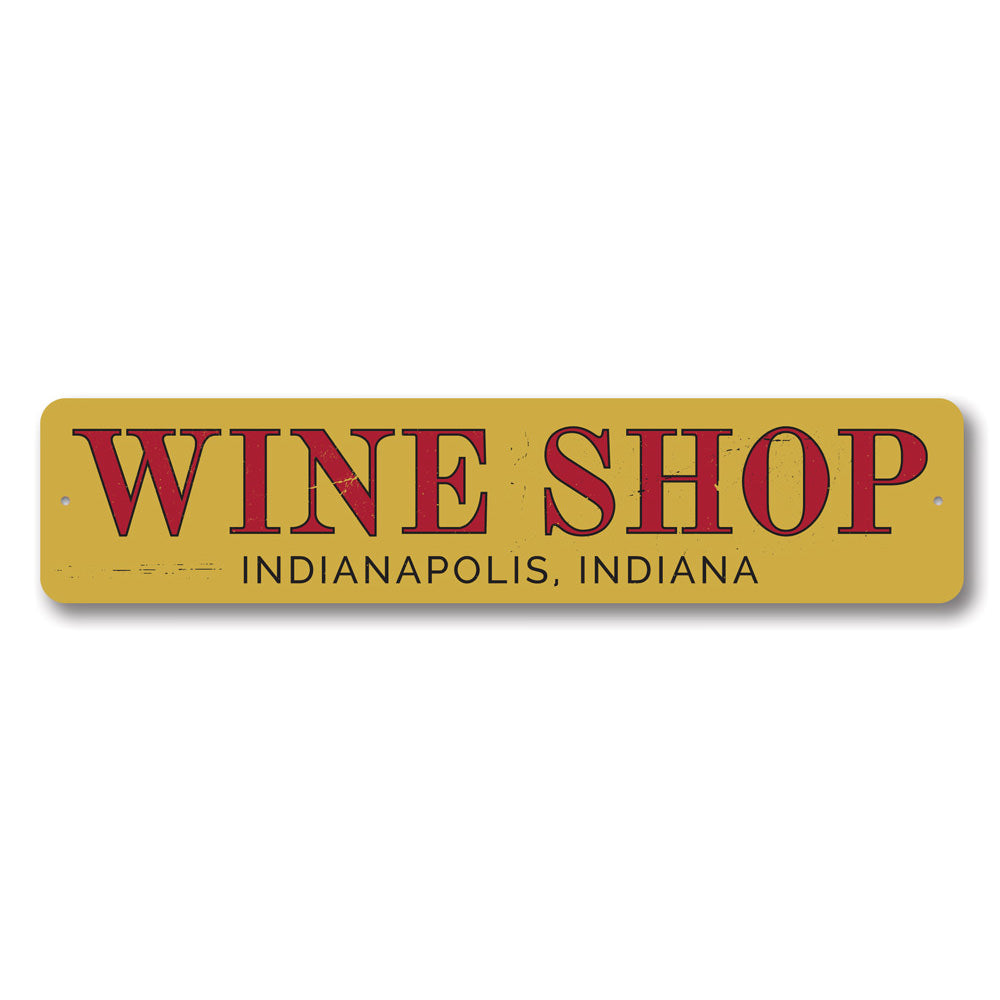 Wine Shop Name Sign Aluminum Sign