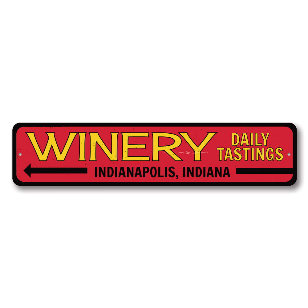 Winery Sign Aluminum Sign