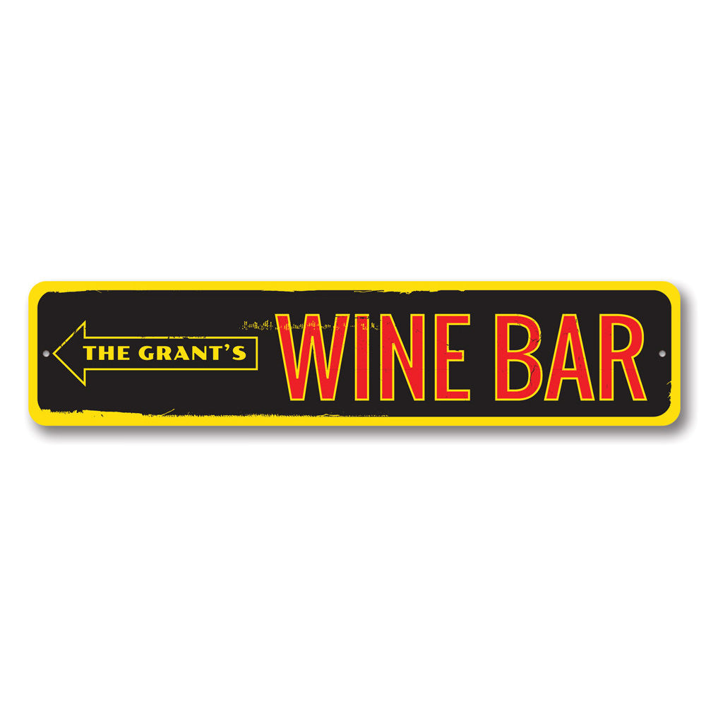 Family Wine Bar Sign Aluminum Sign